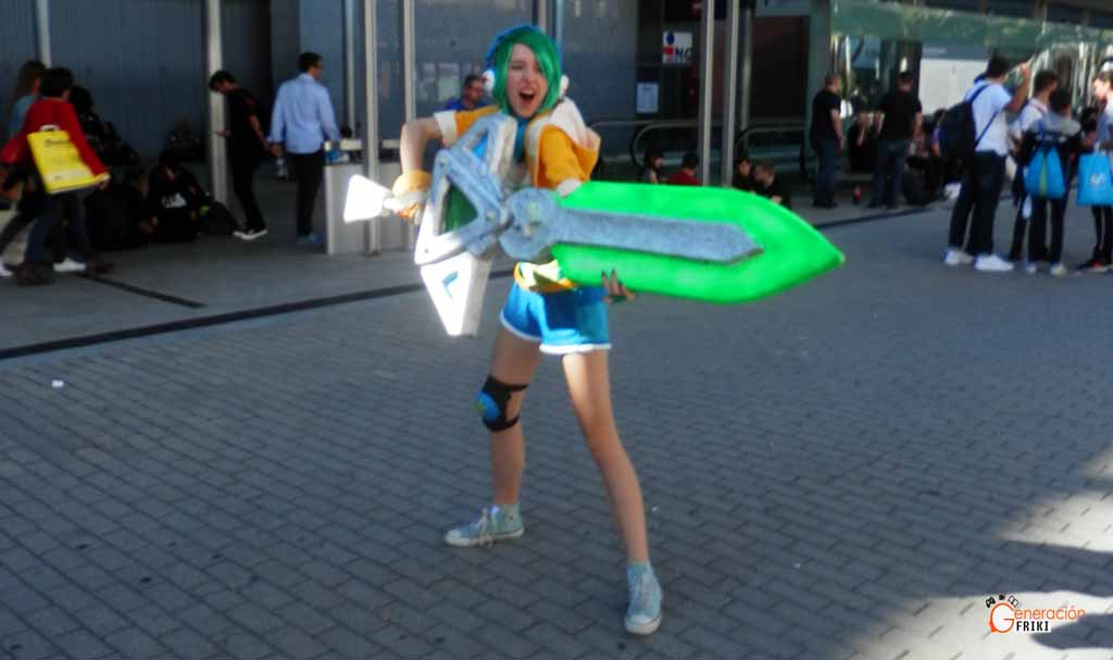 Madrid-Gaming-Experience-2017-Cosplay-Arcade-Riven-(LOL)